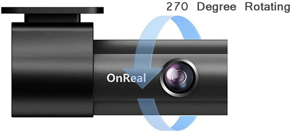 OnReal Dash Cam 1080P FHD DVR Car Driving Recorder, 170° Wide Angle, GPS Module, Motion Detection, Parking Monitoring, G-Sensor, Loop Recording - MASS Wholesalers