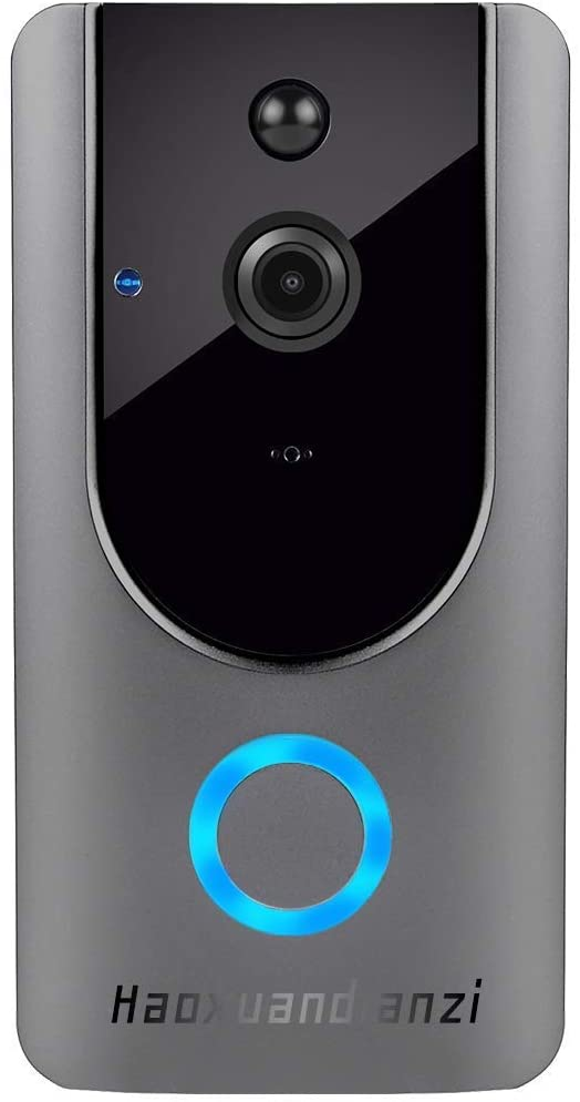 Smart Wireless WiFi Video Doorbell hd Security Camera with pir Motion Detection Night Vision Two-Way Talk and Real-time Video 2.4Ghz WiFi - MASS Wholesalers