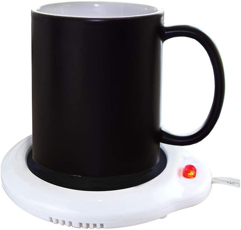 Eutuxia Mug Warmer for Home & Office. Great for Warming Up Cups, Coffee Mugs, Wax, and Beverages on Desks, Tables & Countertops. Electric Heated Plate Warms Quickly. Enjoy Hot Drinks on Cold Days. - MASS Wholesalers