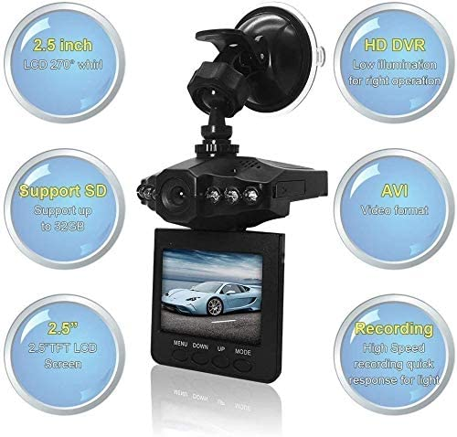 "Dash Cam, Car Dash Cam, 2.5"" Wide Angle Car Driving Recorder Dashboard Camera, Car DVR Vehicle Dash Cam with Night Mode, WDR, Loop Recording Excellent Video Images - MASS Wholesalers"