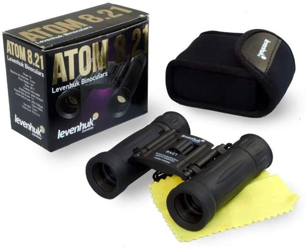 Levenhuk Atom 8x21 Ultra-Compact Binoculars with Fully Coated BK-7 Glass Optics for True-to-Life Images in Natural Colors - MASS Wholesalers