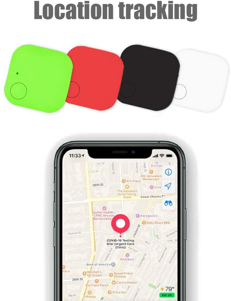 Key Finder, Key Locator for Wallet Tracker Phone Finder, Bluetooth Smart Lost Item Tracker Tag (1.51.5inches) 4Pcs. - MASS Wholesalers