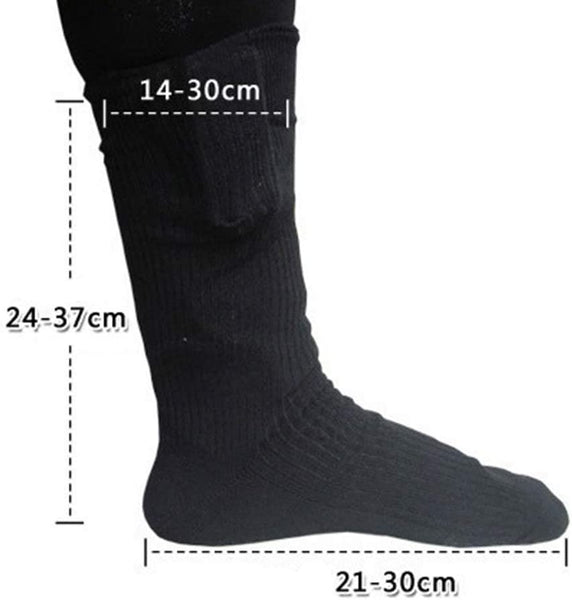Takefuns Thermal Cotton Heated Socks,Sport Ski Socks,Winter Foot Warmer Electric Warming Sock,Battery Powered Foot Warmer for Camping - MASS Wholesalers
