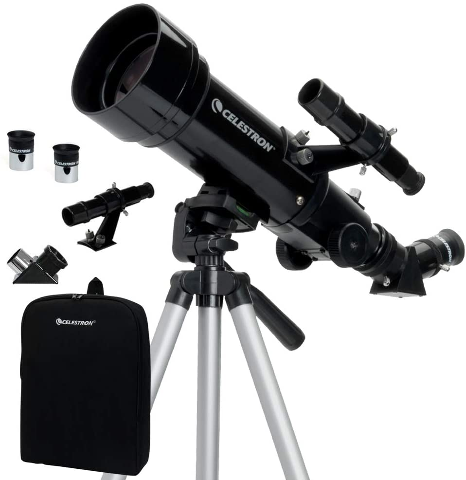 Celestron - 70mm Travel Scope - Portable Refractor Telescope - Fully-Coated Glass Optics - Ideal Telescope for Beginners - BONUS Astronomy Software Package - MASS Wholesalers