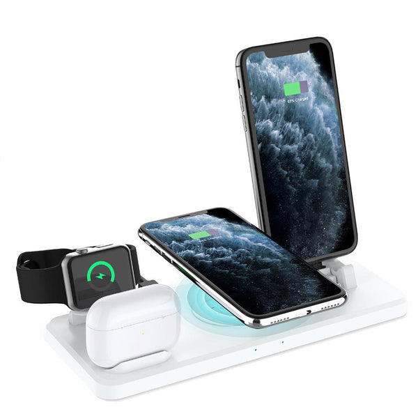 6 in 1 Universal Wireless Charging Station Multi-function Charger 2.0w, 2.5w USB Charging Cable - MASS Wholesalers