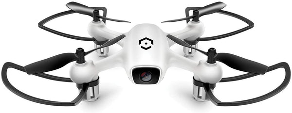 Amcrest A4-W Skyview WiFi Drone with Camera HD 720P FPV Quadcopter, Training Drone for Beginner & Kids, RC + 2.4ghz WiFi Helicopter w/Remote Control, Headless Mode, Smartphone (White) - MASS Wholesalers