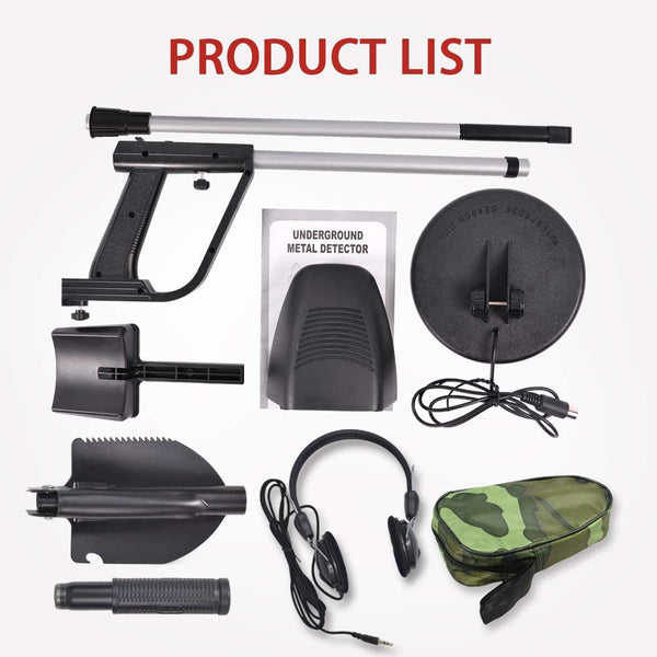 Wedigout Metal Detector MD-4030 Pro Edition Hobby Explorer Waterproof Search Coil with Shovel - MASS Wholesalers