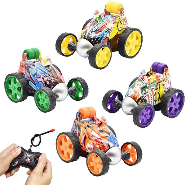 Children Wireless Remote Control Dump Truck Electric Tumbling Graffiti RC Car Toy 1PC - MASS Wholesalers