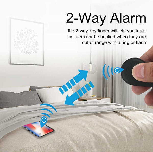 2 Pack Smart GPS Tracker Wireless Anti-Lost Alarm Sensor Device APP Control Compatible iOS Android - MASS Wholesalers