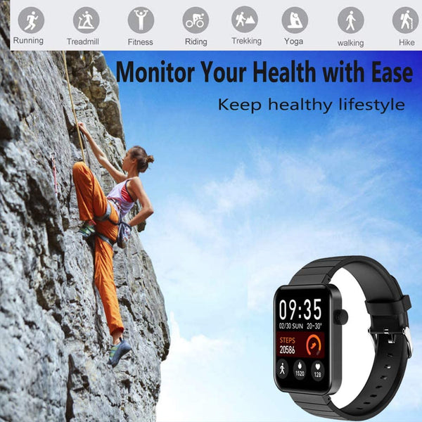ALLCELE Smart Watches for Android iOS Phones,Fitness Step Calorie Bluetooth Sports Watch,IP67 Waterproof Watch with Pedometer,Smartwatch Compatible with iPhone Samsung, Watch for Men Women - MASS Wholesalers