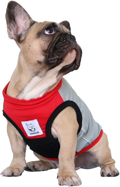 Dog Shirts T-Shirt Sleeveless Striped Vest - MASS Wholesalers