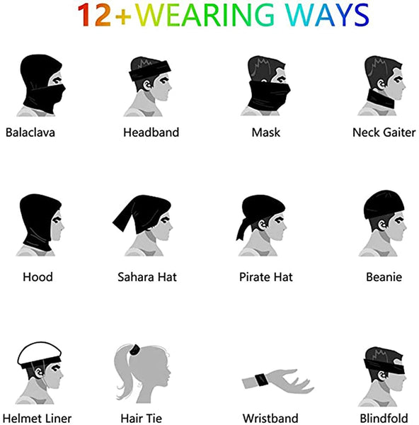 Baclavaace Mask Summer UV Baclave Face Mask Neck Gaiters Bandanas for Halloween - MASS Wholesalers