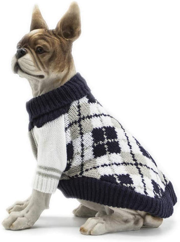 Apetian Dog Sweater Cold Weather Coats Winter Dog Apparel Dog Knitwear Clothing (M, DS003A-Navy Blue) - MASS Wholesalers
