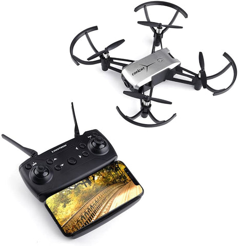 WiFi FPV RC Drone,Rcharlance FPV Camera Drone 720P HD Camera Live with Adjustable Wide-angle Lens,Altitude Hold,Gravity Sensor Function,Headless Mode,One Key Take Off & Land,3D Flip & APP Control Grey - MASS Wholesalers