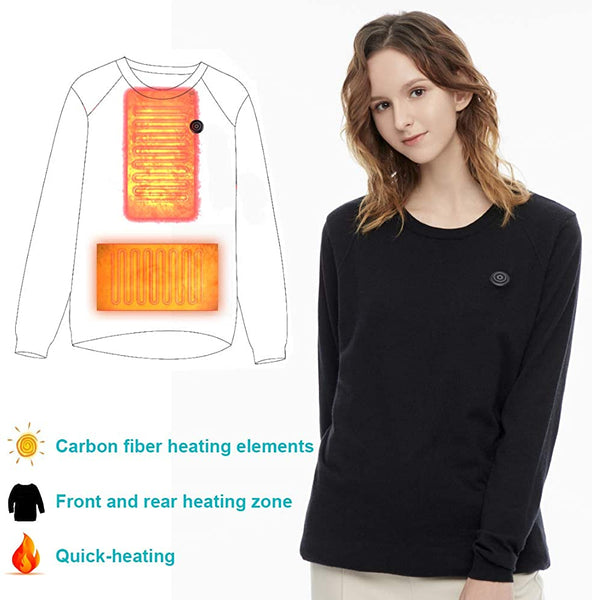 Heated Tops Knitted, USB Electric Wool Sweater, Thermal Underwear for Adult - MASS Wholesalers