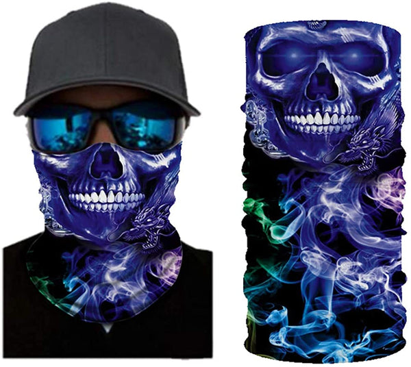 Neck Gaiter Dust Uv Sun Protection Bandanas Outdoor Washable Face Cover Mask Headwear Sports Scarf - MASS Wholesalers
