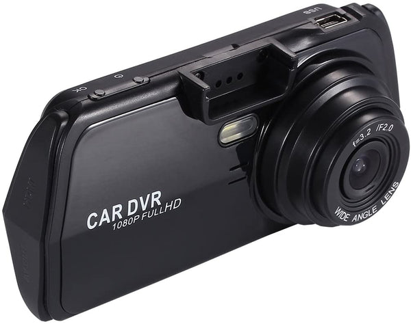 Dash Camera For cars dvr Dash Cam Full HD 1080P 2.4 Inch LCD 140 Wide Angle Video Recorder Night Vision 1 LED fill light NO G-Sensor Vehicle Portable Mini Dashboard Black Box loop Recording - MASS Wholesalers