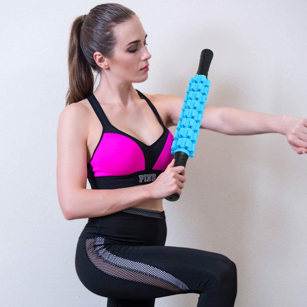 Upgrade Muscle Roller Stick for Athletes, Massage Roller Stick for Exercise Runners and Dancers, Body Therapy Massager Stick Tool for Relief Muscle Soreness, to Help Calf, Leg and Back Recovery - MASS Wholesalers