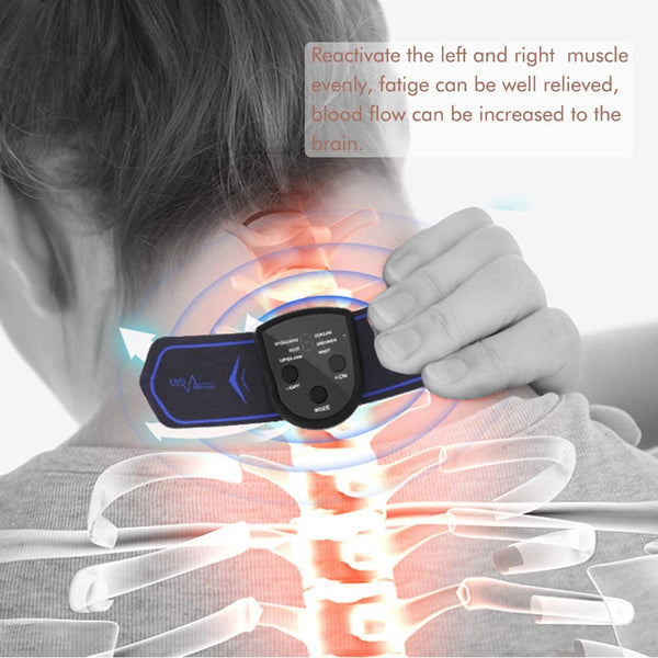 Bomel Mini, Portable EMS Massagers for Neck,Back or Shoulders,Rechargeable, Multi-functional EMS(Electronic Muscle Simulator) Massager Tool, Massager Pad for Muscle Pain or Fatigue or stiffness Relief - MASS Wholesalers