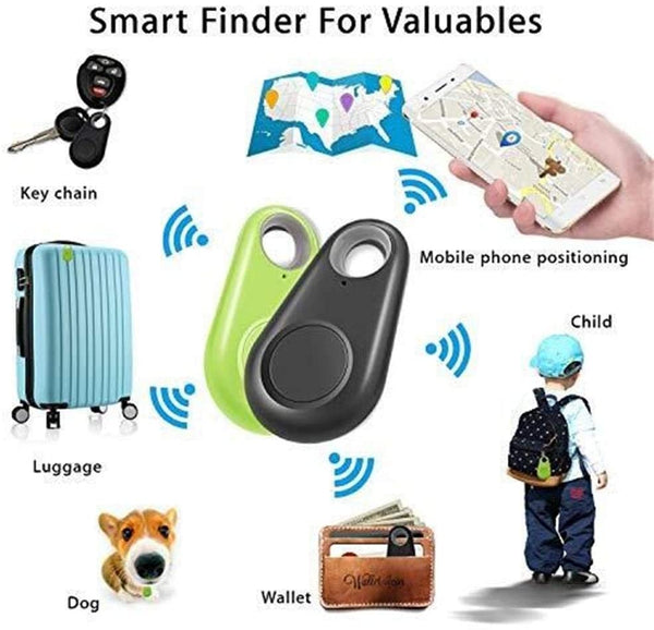 4 Pack Smart Tracker Key Finder Locator Wireless Anti Lost Alarm Sensor Device APP Control Compatible iOS Android - MASS Wholesalers