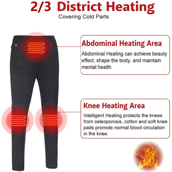 Heated Underwear Electric Warm Shirt Heated Pant Men Women Heated Sport Shirt USB Battery Charge Gift for Senior - MASS Wholesalers