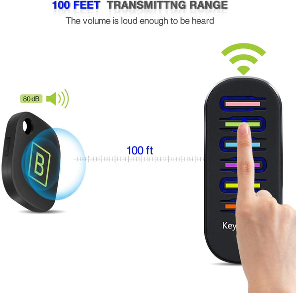 Key Finder, TRELC Wireless RF Item Locator Item Tracker Support Remote Control,1 RF Transmitter and 6 Receivers - Wireless Key RF Locator, Pet Tracker Wallet Tracker, Keychains Included - MASS Wholesalers