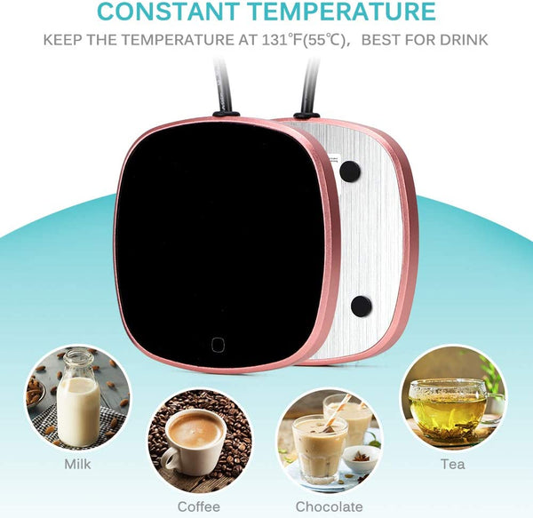 Coffee Warmer, Haofy Coffee Mug Warmer, Automatic Shut Off to Keep Temperature Up to 131℉/ 55℃, Electric Beverage (Tea,Water,Cocoa,Soup or Milk) Heater Surface for Home & Office Use (Without Mug) - MASS Wholesalers