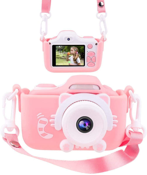 "Kids Camera, Children's Camera 1080P 20MP 2.0"" FHD Timing Auto-Focus Shooting Video Recorder Shockproof Digital Camera for Kids Gifts Best Gifts for 3-10 Year Old Boys Girls with 32GB SD Card (Blue) - MASS Wholesalers"