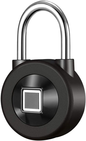 Fingerprint Padlock Smart Touch Lock Metal Waterproof IP65 Anti-Theft Intelligent Keyless for Gym Locker, School Locker Lock, Backpack, Suitcase, Travel Luggage Black - MASS Wholesalers