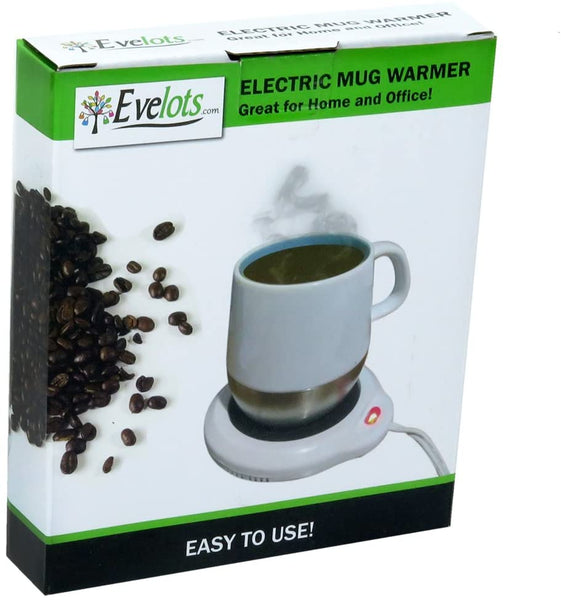 Evelots Desktop Electric Mug Warmer-Coffee/Tea/Cocoa/Soup-Scented Candles-Hot - MASS Wholesalers