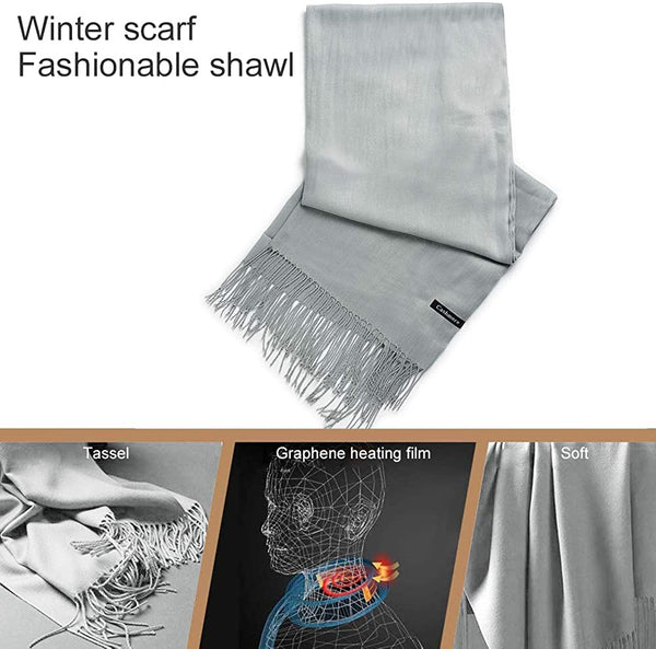 Heated Scarf, USB Electric Cashmere Heating Scarf, Thick Heat Trapping Thermal Neck Warmers - MASS Wholesalers