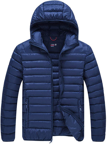 Gopune Men's Lightweight Water-Resistant Outdoor Packable Down Jacket - MASS Wholesalers
