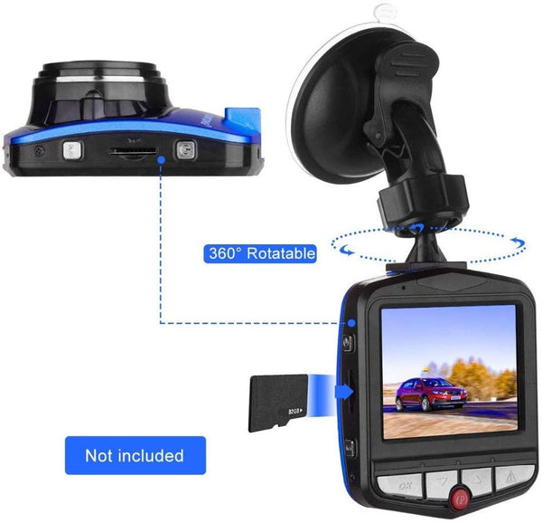 QEBIDUM Mini Dash Cam Car DVR Dashboard Camera Dashcam Full HD 1080P Rechargeable 170 Degree Wide Angle Motion Detection Infrared Night Vision G Sensor Driving Recorder With Parking Monitoring - MASS Wholesalers