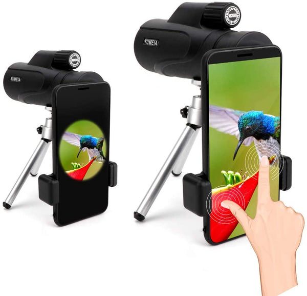 High Definition Monocular Telescope and Quick Smartphone Holder, High Power 16X50 Waterproof Monocular Bak4 Prism with Tripod for Wildlife Bird Watching Hunting Camping - MASS Wholesalers