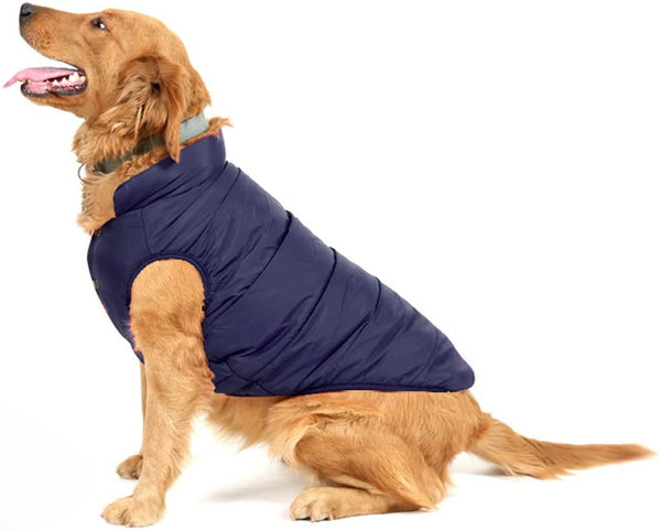 PENIVO Pet Dogs Apparel Soft Warm  Quilted Winter Coat - MASS Wholesalers