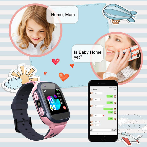 Jsbaby Smartwatch for Kids 3-12 (Pink) - MASS Wholesalers