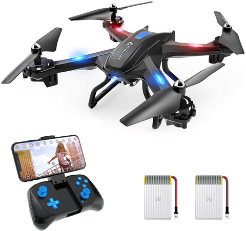 SNAPTAIN S5C WiFi FPV Drone with 720P HD Camera,Voice Control, Wide-Angle Live Video RC Quadcopter with Altitude Hold, Gravity Sensor Function, RTF One Key Take Off/Landing, Compatible w/VR Headset - MASS Wholesalers