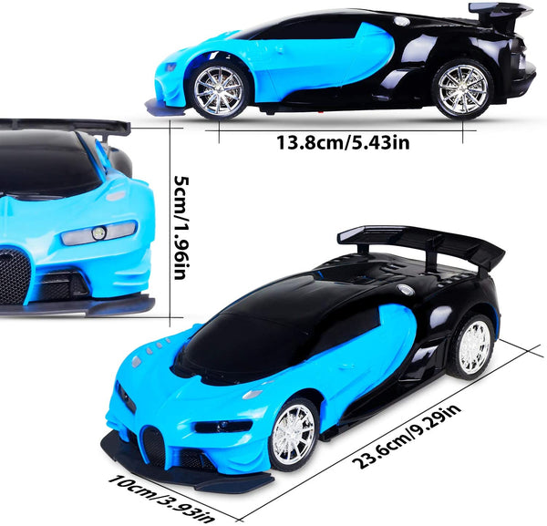 Cusocue Remote Control car,RC Cars 1/16 Scale Drift Toy Racing Bule Car,with LED Lights High Speed Car for Kid 3 4 5 6 7 8 9 Year Old Kids Boys and Girls - MASS Wholesalers