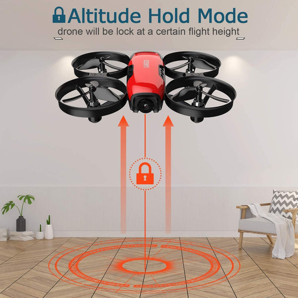 SANROCK U61W Drones for Kids with Camera, Mini RC Quadcopter with 720P HD WiFi FPV Camera, Support Altitude Hold, Route Making, Headless Mode, One-Key Start, Emergency Stop, Great Gift for Boys Girls - MASS Wholesalers