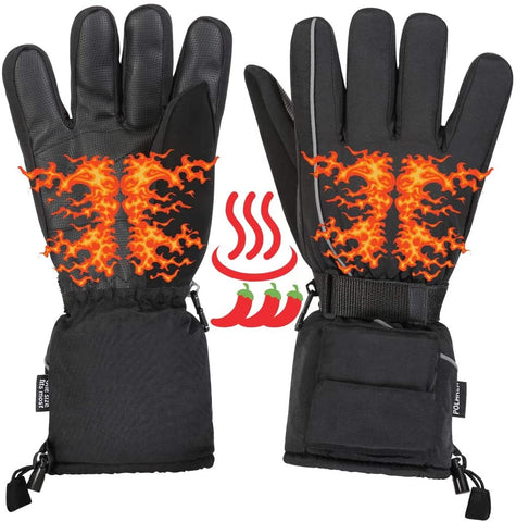 Heated Winter Gloves Hand Warmers - Battery Powered Mens Heated Gloves, Hand Warming Gloves, Cold Weather Gear Electric Hand Warmer Thermal Gloves Keeps Hands Warm During Snow Ski Outdoors Skiing - MASS Wholesalers