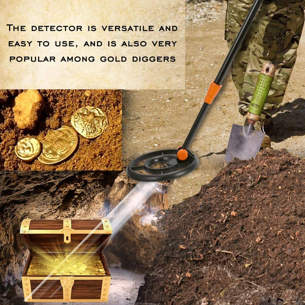 VISLONE Metal Detector, High Sensitivity Handheld Underground Metal Detector Digital Display Underground Gold Silver Copper Diamond Detecto Metal Search Instrument Kit with Headphone - MASS Wholesalers