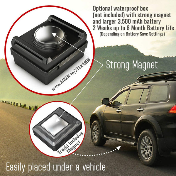 Tracki 2020 Model Mini Real time GPS Tracker. Full USA & Worldwide Coverage. for Vehicles, Car, Kids, Elderly, Dogs & Motorcycles. Magnetic Hidden Small Portable Tracking Device. Monthly fee Required - MASS Wholesalers