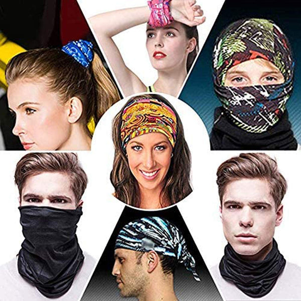 Bandana for Rave Face Mask Dust Wind UV Sun, Neck Gaiter Tube Mask Headwear, Motorcycle Face Mask for Women Men Face Scarf - MASS Wholesalers
