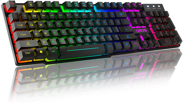 RGB Gaming Keyboard USB Wired CHONCHOW F981 Mechanical Feeling Keyboard LED Backlit Water Resistant Compatible with Desktop pc Computer Windows Linux Ps4 Xbox one Mac - MASS Wholesalers