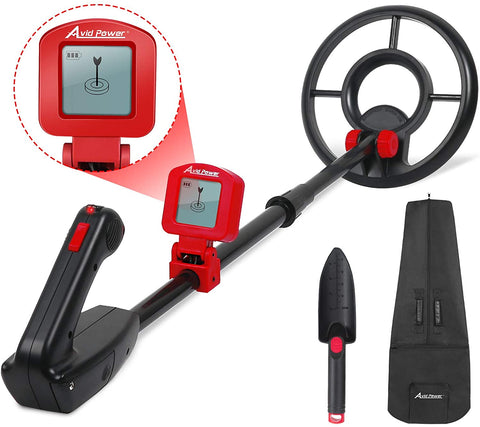 Avid Power Metal Detector for Kids Treasure Hunting Juniors Metal Detectors with Adjustable Stem, LCD Display and Carrying Bag - MASS Wholesalers