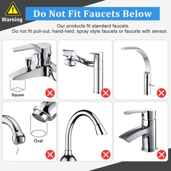 JONYJ Faucet Water Filter, 304 Stainless-Steel Water Faucet Filtration System, High Water Flow Tap Water Filter, Water Purifier Reduces Chlorine - Fits Standard Faucets (2 Filters Included) - MASS Wholesalers