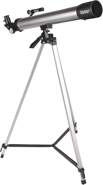 Vivitar TEL50600 60X/120X Telescope Refractor with Tripod (Black) - MASS Wholesalers