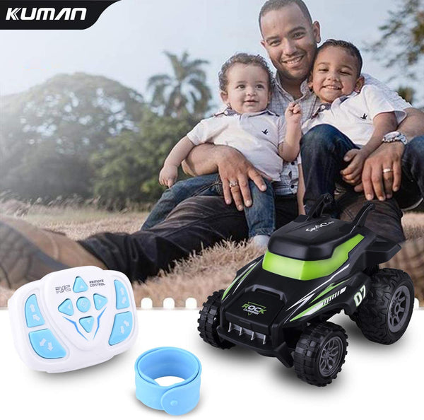 Remote Control Car, Kuman 2.4G Wireless Wrist Watch RC Stunt Car Truck Car Toy Gift for Boys and Girls - MASS Wholesalers