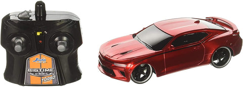 "Jada Toys Bigtime Muscle 7.5"" 2016 Chevy Camaro SS Remote Control Car RC 2.4GHz Red - MASS Wholesalers"