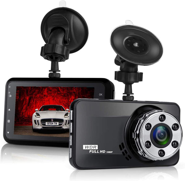Dash Cam, NIUTA 1080P FHD DVR Car Driving Recorder 3 Inch LCD Screen 170° Wide Angle, G-Sensor, WDR, Parking Monitor, Loop Recording, Motion Detection - MASS Wholesalers